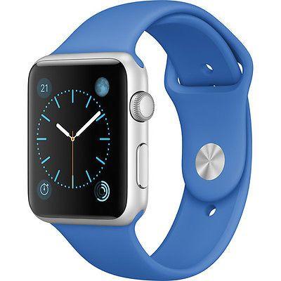 Apple Watch Sport 42mm (2015, Silver Aluminum Case, Royal Blue Sport Band)