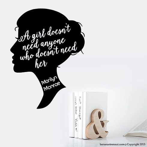 Marilyn Monroe fans out there? Marilyn Monroe Quotes with decals? Who likes to decorate your home with cool wall decals?   #wall_decals #Decals #Macbook_Decal #Marilyn_Monroe #Marilyn_Monroe_Quotes