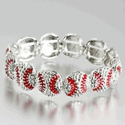 Crystal Baseballs Stretchy Bracelet...I NEED this!