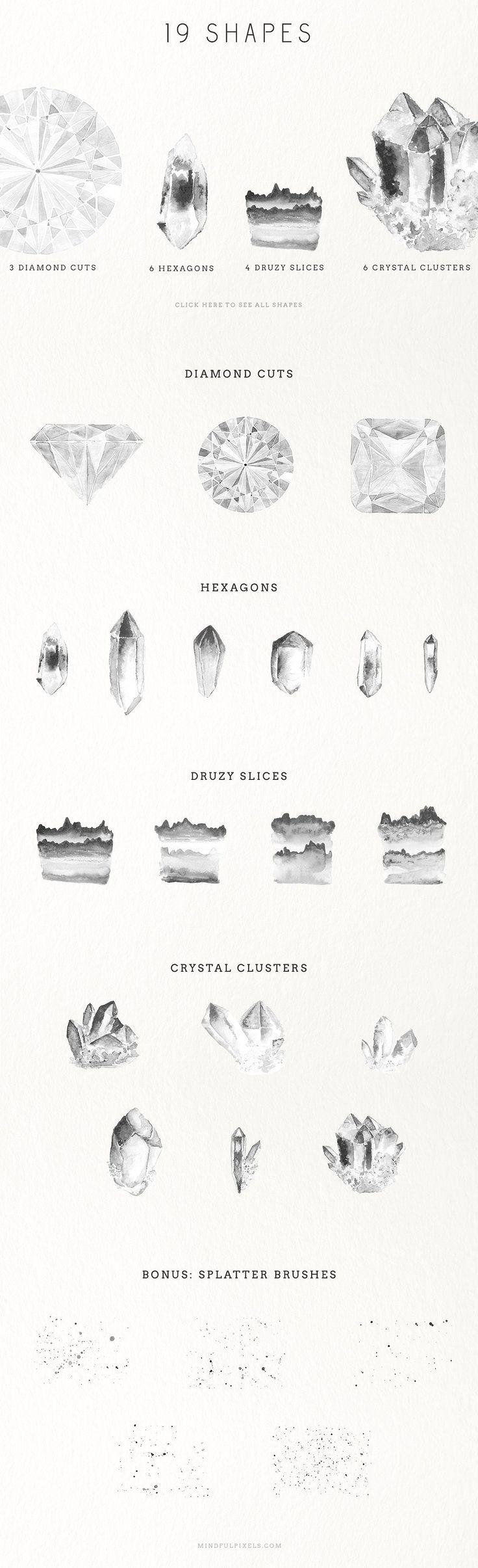 Watercolour Gem Creator Kit - Illustrations - 2