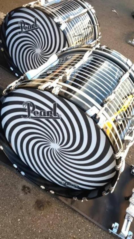 custom drumheads | Thread: Blue Devils B custom drum heads and finish…