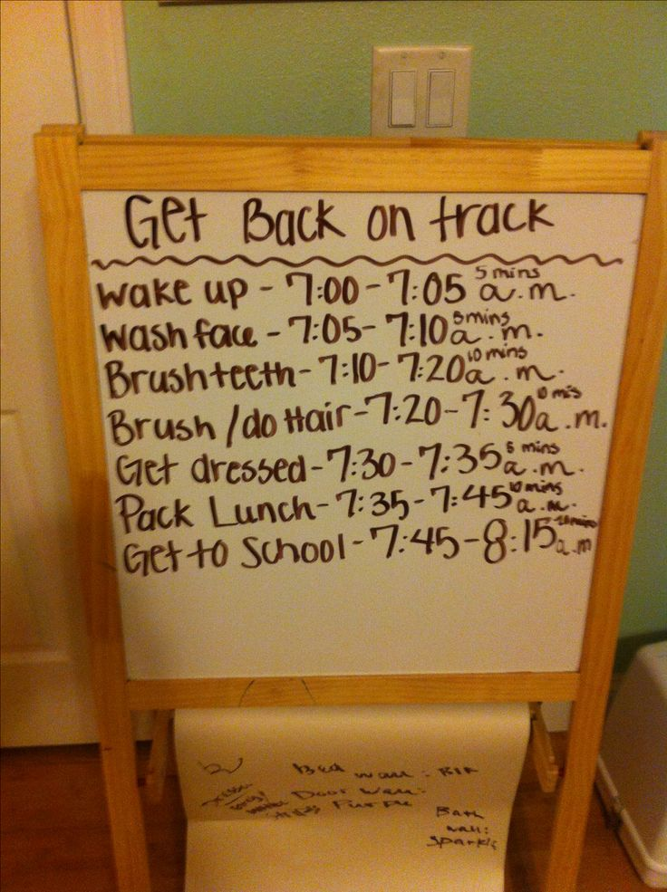 Get back on track and make a list of things you need to do in the morning and do them a couple weeks before school starts so that you aren't lagging behind when you go back to school. Great idea for kids or lazy teens :)