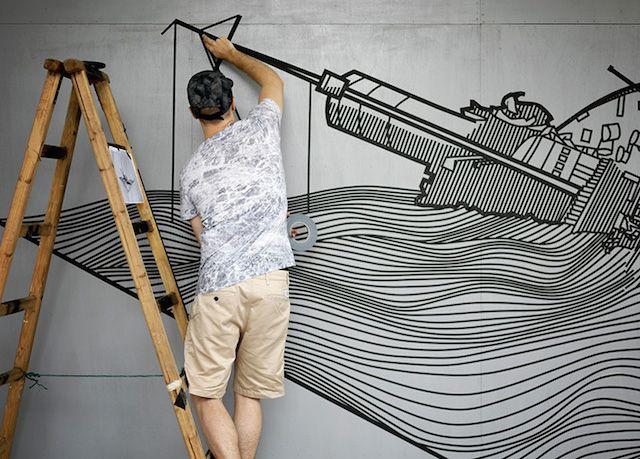 Masking Tape Street Art – Fubiz Media