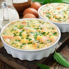 Recette Quiche sans pâte saumon et ciboulette (facile, rapide)
