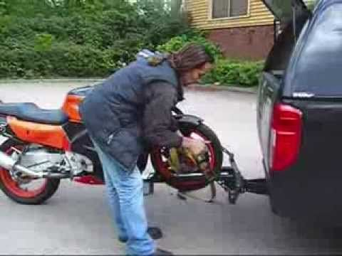 (UP-DATED)MOTORCYCLE LOADING BIKE CARRIER.wmv - YouTube