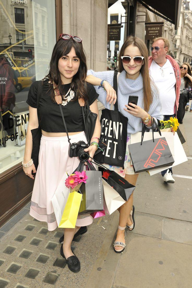 Stylish bloggers at #RegentTweet today. #RegentStreet