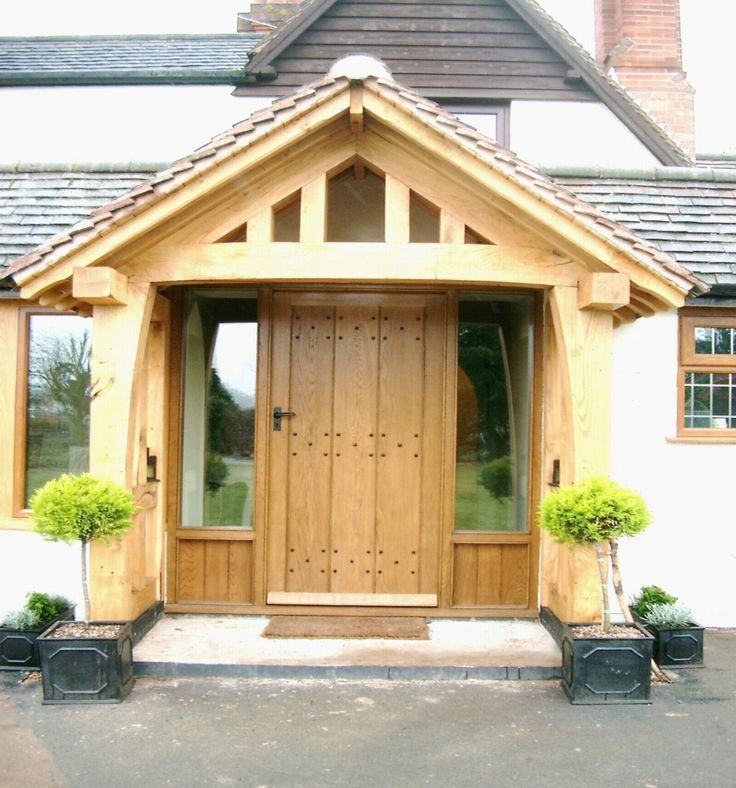 Oak double porch front extension ideas pinterest for Front porch extension ideas