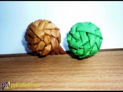Плетем шарик из бумаги