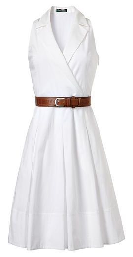 """Annora"" dress with belt, Lauren by Ralph Lauren Dress Collection, $159, select Macy's stores."