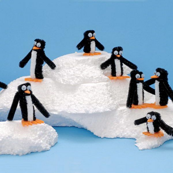 Penguins - 50  Pipe Cleaner Animals for Kids, http://hative.com/pipe-cleaner-animals-for-kids/,