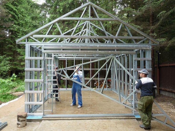 Строительство гаража - цена под ключ. Монтаж каркасного гаража, основные этапы, фото и видео. Строительство загородных гаражей по типовым проектам.   http://www.metgar.ru/montazh/