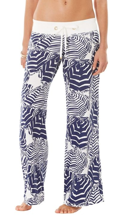 Lilly Pulitzer Linen Beach Pant in Oh Cabana Boy
