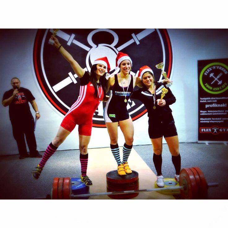 The happy winners at Santa Clause Weightlifting Cup 2014  #olympicweightlifting #weigtlifting #happy #girls #liftingislife #liftheavy #budapest #flexgym #flexbase #budapest