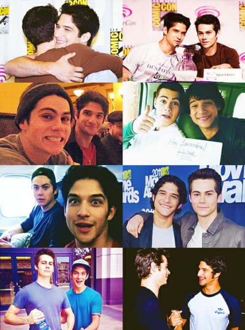 Dylan o' brien and Tyler Posey. Best friend, brothers, and their are cute but also funny
