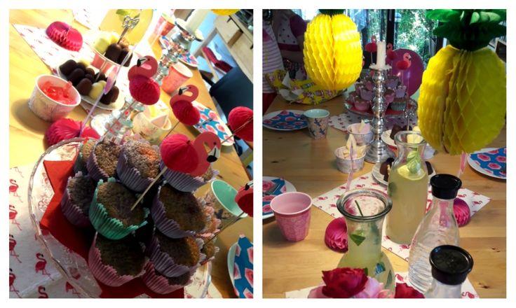 Kindergeburtstag Flamingo-Fest mit Ananas und vielen Retro- Spielen