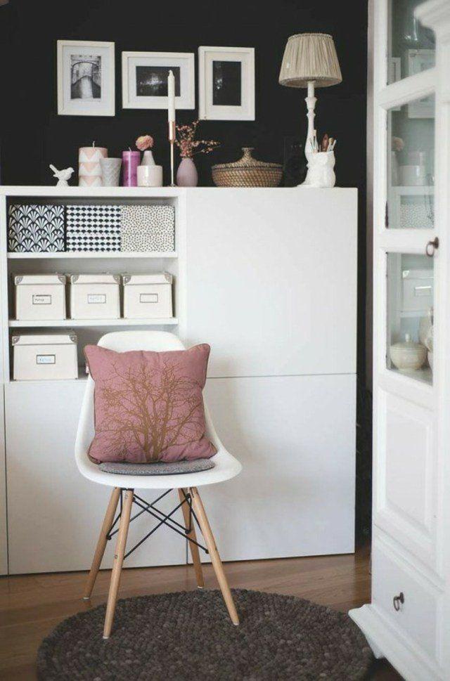 meuble ikea design besta fauteuil cadres composition tiroirs rangement tapis rond