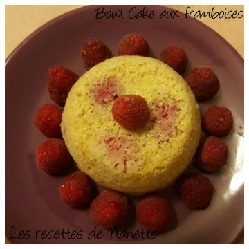 Bowl Cake aux framboises