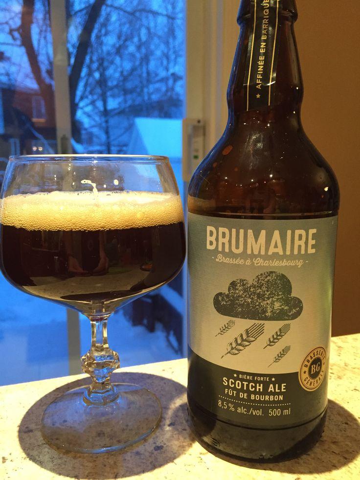 Brumaire est un nom qui date de la Révolution française. Cette Scotch Ale vieillie en baril de Bourbon est vraiment excellente!