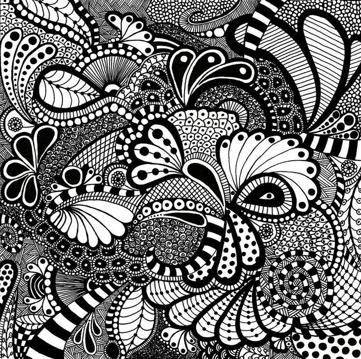 "https://flic.kr/p/5Zdqwd | Zentangle Square 2 | zentangle drawn on 10"" x 10"" bristol board - 2 of 3 www.TangleTangleTangle.com"