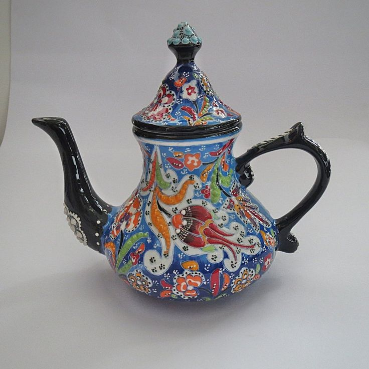Serve tea in style with these handmade ceramic tea pots or let it serve some extra charm just by being part of the decor. Features: - 100% lead free and food safe - Size: 23 cm. H x 24 cm. W Shipping: