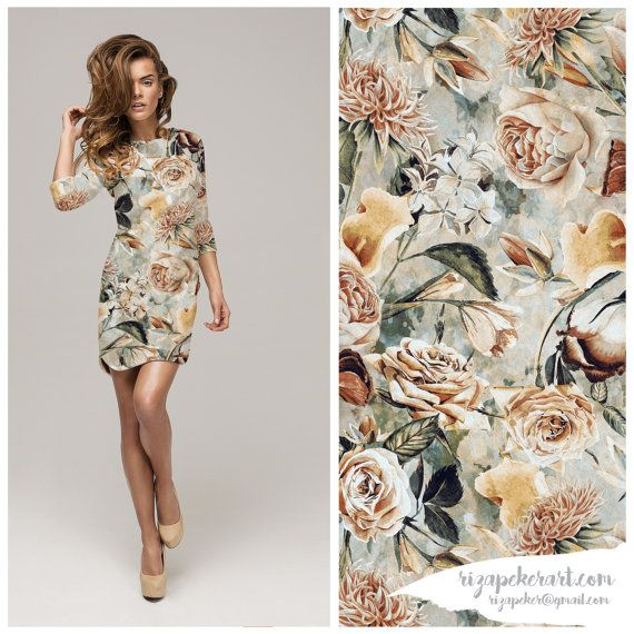 Autumn Dreams Seamless Floral Pattern for Fashion by rizapekerart #floral #romantic #instantdownlad #digital #artshop #fashion #moda