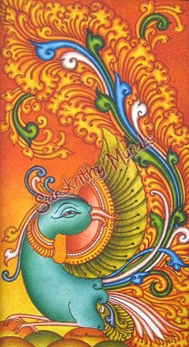 17 best images about kerala mural on pinterest peacocks for Mural painting designs