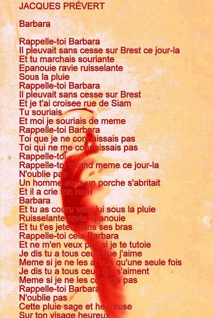 """Jacques Prévert - """"Rappelle-toi Barbara"""""""