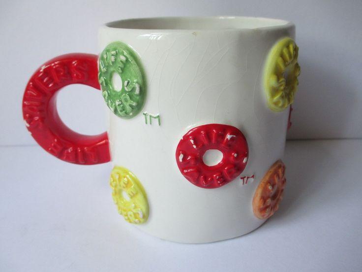 Large Lifesaver Candy Mug Lifesavers Coffee Tea Novelty Kitchen Collectible Gift