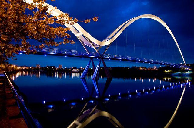 Infinity Bridge in Stockton, UK