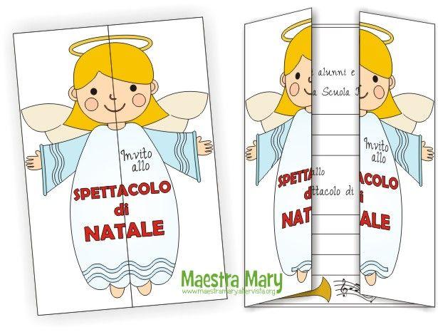 Disegni Di Natale Maestra Mary.Biglietto Invito Per Lo Spettacolo Di Natale Health