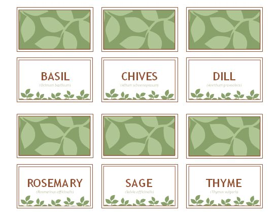 Herb label printable-- there is one other design plus TONS of ideas for making plant markers!