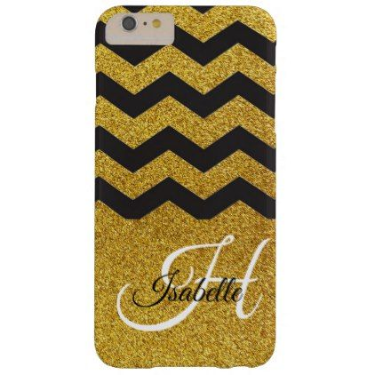 Glam Gold Glitter Chevron iPhone 6/6s Plus Case - calligraphy gifts custom personalize diy create your own