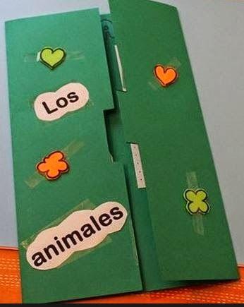 PEQUEÑOS RECURSOS INFANTILES: Lapbook de los animales. En el blog se muestra el interior.