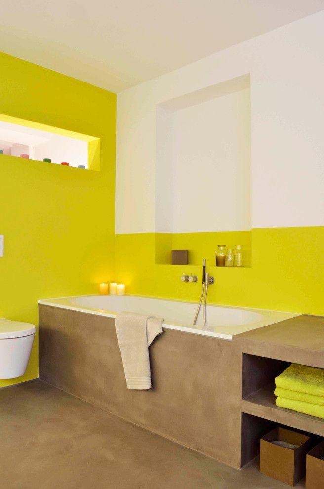 Дизайн-проекты ванных комнат: 80 современных и изящных вариантов реализации http://happymodern.ru/dizajn-proekt-vannyx-komnat/ Встроенные полочки и подвесная сантехника в интерьере ванной комнаты