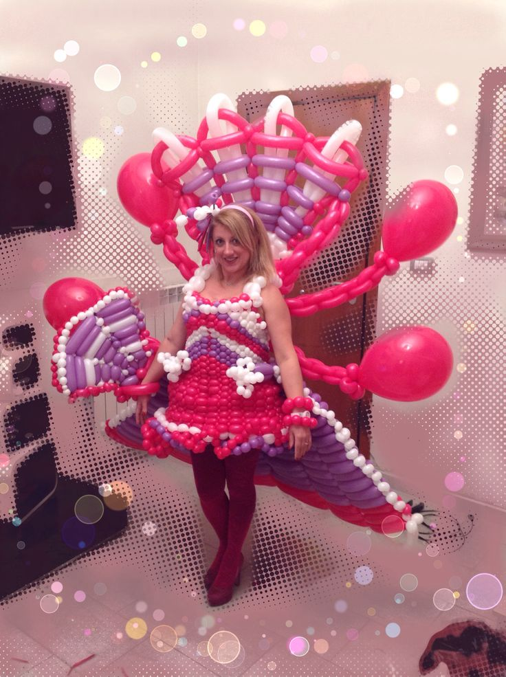 Secondo modello in stile abito di palloncini Carnevale Misterbianco 2015