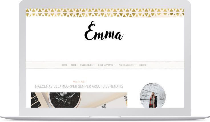 Emma is one extraordinary premium theme. This template is most suitable for Professional, Lifestyle, Fashion, Beauty, Photography, Travel, Artist, Makeup and Daily blogs.