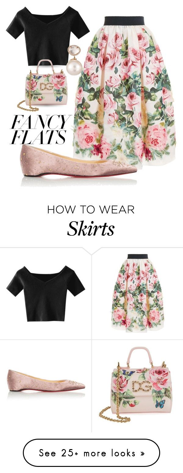 """""""Fancy Flats"""" by queenofsienna on Polyvore featuring Dolce&Gabbana and Samira 13"""