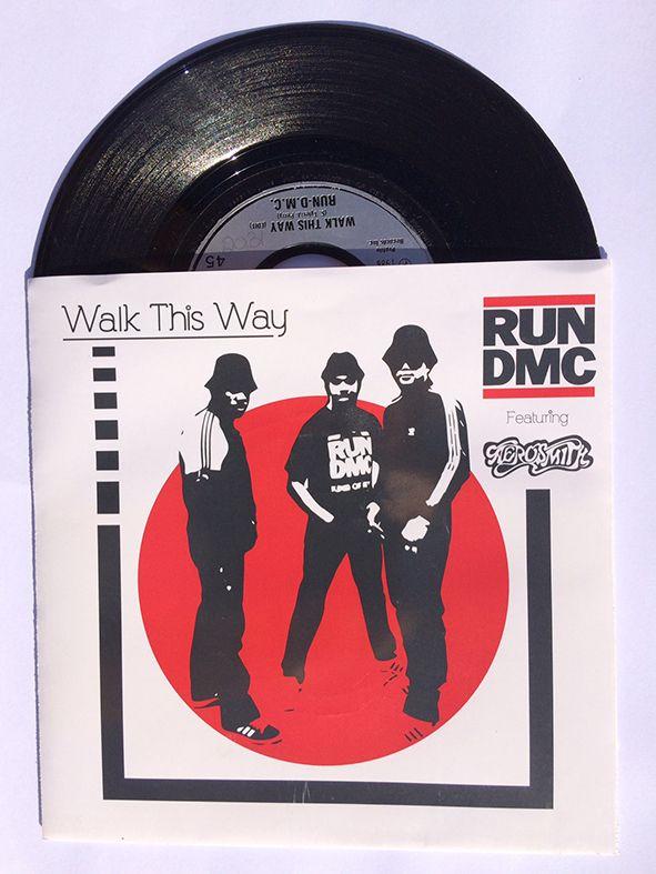 Run Dmc Featuring Aerosmith Walk This Way 7 Record Sleeve Run Dmc Walk This Way Aerosmith