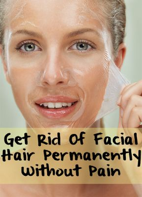 how to get rid of facial hair naturally and permanently