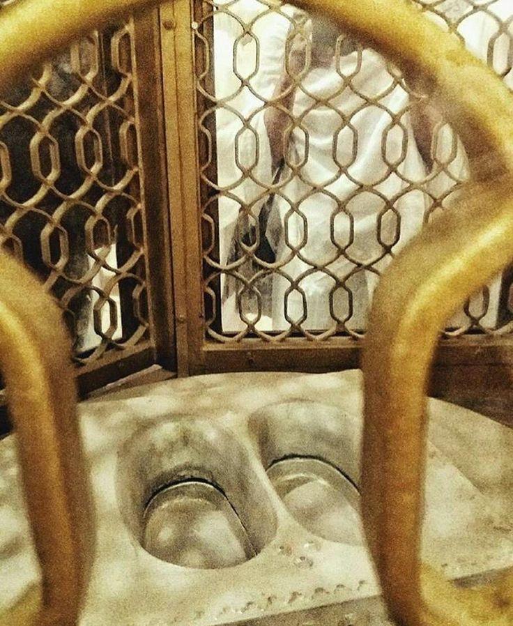 The Footprints of Ibrahim (AS), Masjid-Al-Haram, Makkah #footprint #Ibrahim #Masjid_Al_Haram #Makkah #Hajj Visit -  http://www.mzahidtravel.com/hajj/packages/UK/platinum-hajj-package.html