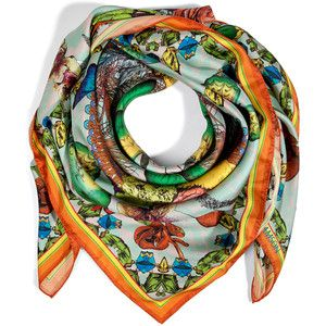 Silk Square Scarf - Sizzling Scent by VIDA VIDA vCuTUh9IIF