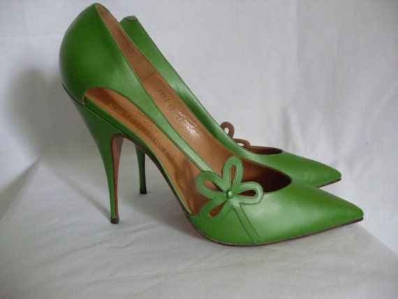 1950s Green High Heel Stiletto Clema by Shaftesburg Shoes Ltd