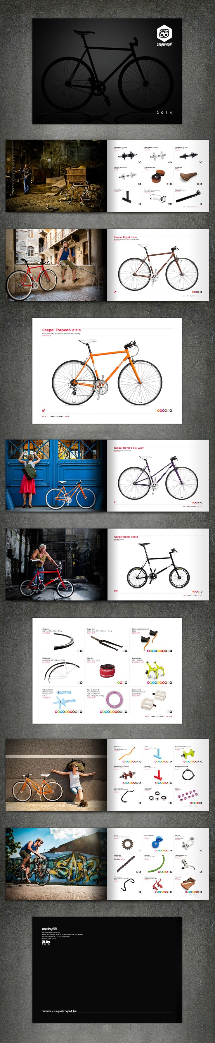 Csepel Royal Bicycle Catalogue, 2013. #typography #graphicdesign #catalogdesign #somoskoi