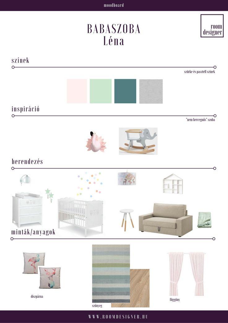 Moodboard / pasztell babaszoba  Room Designer - Lakberendezés.Online.Fix áron.