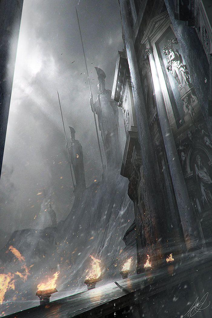 Guardians, Adam Burn on ArtStation at https://www.artstation.com/artwork/guardians-d3d38334-c8a3-4861-a369-749aea06c4a5