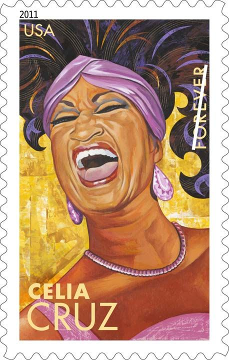 Celia Cruz on a US Forever Stamp...