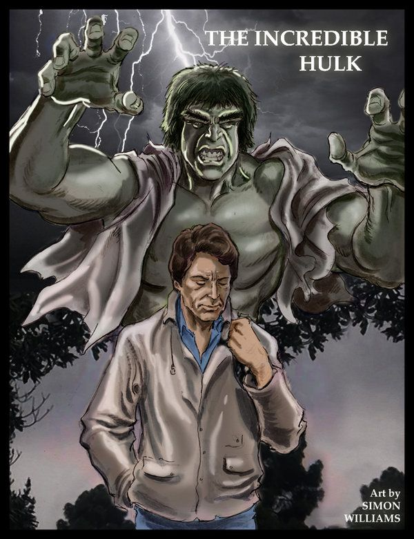 ...a mighty, raging fury by Simon-Williams-Art.deviantart.com on @DeviantArt  Here's a cafe sketch I drew of #BillBixby and #LouFerrigno as the #Incredible Hulk. I coloured it up in Photoshop... and am really proud of how it's turned out. I hope you like it.