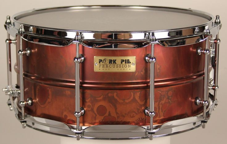 "The ""Pork Rub"" Snare Drum! 100% BRASS shell snare drum, made by pork pie percussion. Limited edition ""pork rub"" finish. Available now at westside custom drums CUSTOMDRUMKITS.COM"