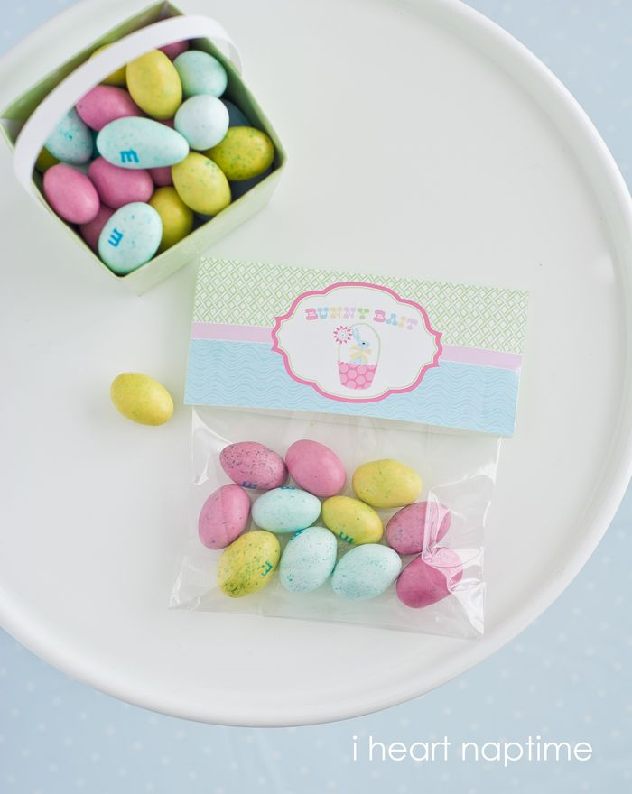 Bunny Bait Printable Easter Bag FREE Toppers ...so cute!