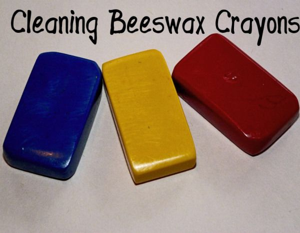 Cleaning Beeswax Crayons